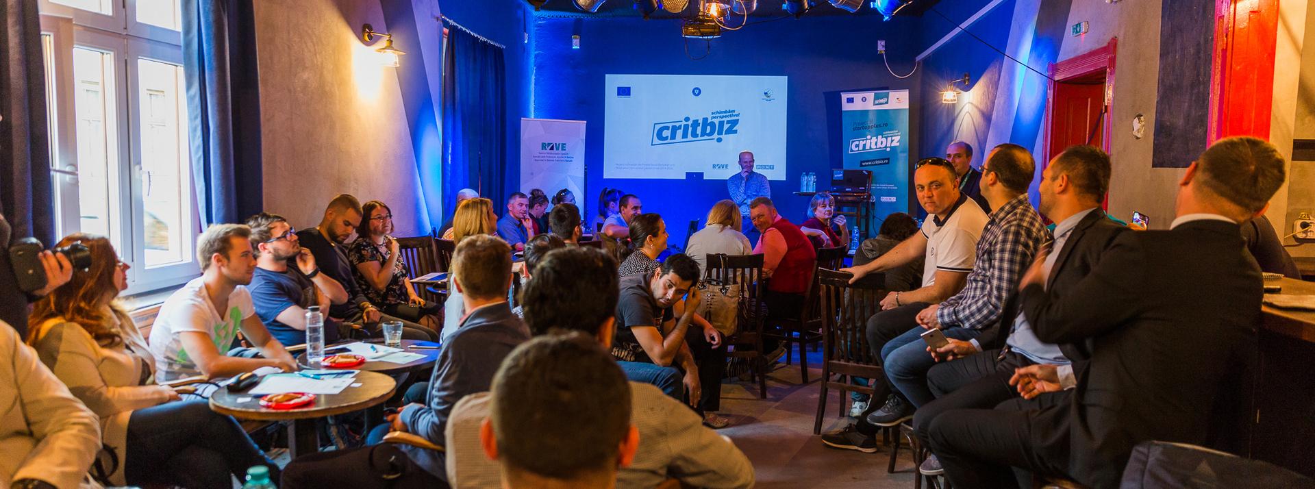 Profilul antreprenorului IT și creativ și idei utile despre pitching la conferința CRITBIZ din Oradea